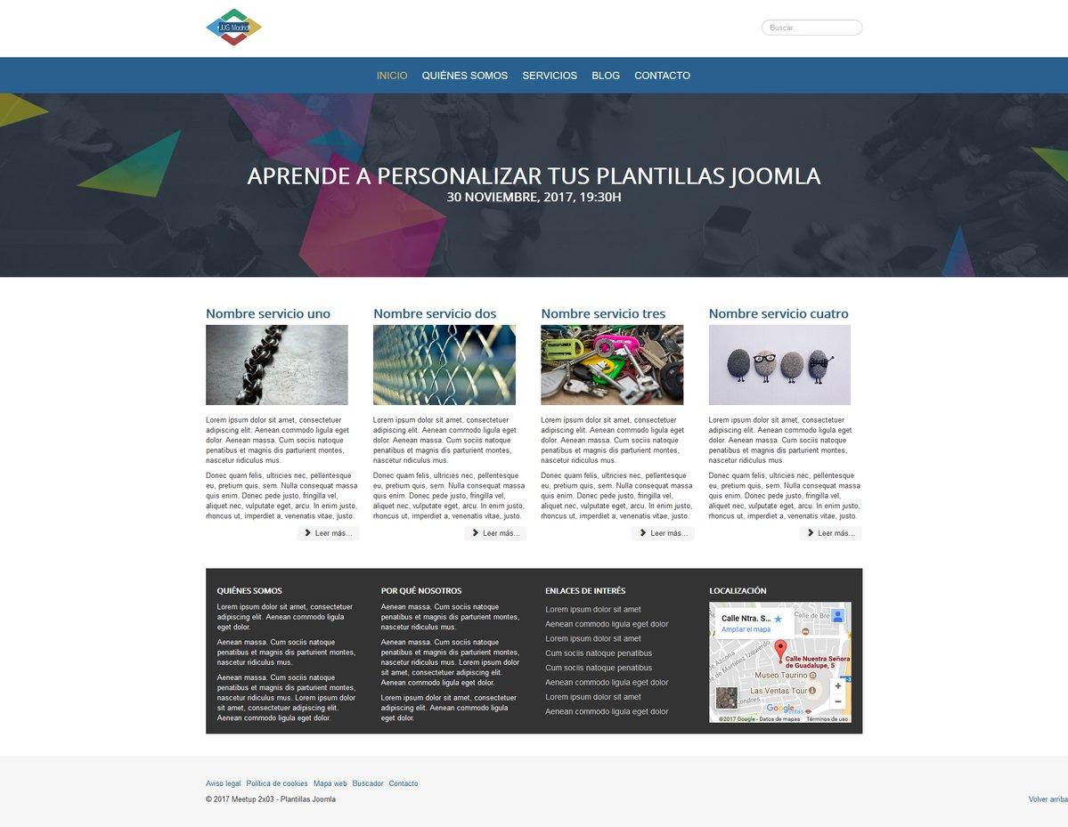 Plantilla Protostar Joomla Personalizada