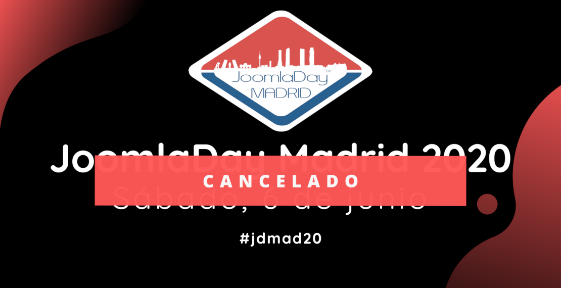 JoomlaDay Madrid 2020, evento cancelado
